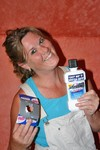 Lynnette with the Listerine pre-brush whitening rinse and the special rebate offer.