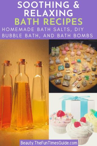 Soothing and relaxing DIY bath recipes - homemade bath salts, bubble bath, and bath bombs